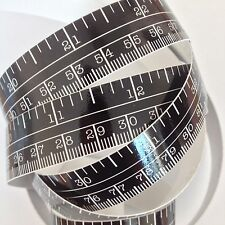 "60"" Black Self Adhesive Vinyl Measuring Tape / Ruler Sticker Stickymeasure"