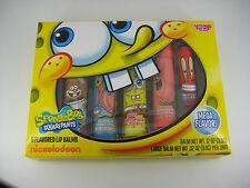Lotta Luv SpongeBob Squarepants Flavored Lip Balm - 5 Piece Set - Large w/ Bonus