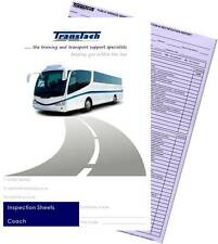 Passenger Vehicle Inspection Pads - Bus/Coach (PCV/PSV) - revised 0617 in mauve