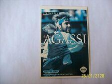 ANDRE AGASSI TENNIS (Sega Genesis) Vidpro Card