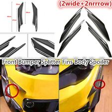 4x Real Carbon Fiber Front Bumper Canards Splitters For Universal Car Mitsubish
