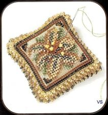 Mill Hill Magnetic Beaded and Stitched Linen Kit Pin Pillow ~ STARLIGHT LILY #2