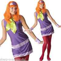 Ladies Sexy Daphne Scooby Doo + Wig 60s 70s 1960s TV Fancy Dress Costume Outfit