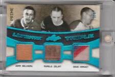 2016 LEAF ULTIMATE TRIPLE JERSEY PATCH PRIME BELIVEAU AURELE JOLIAT HARVEY 3/5
