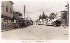 Photo. ca 1938. Courtenay, BC Canada. Union Street