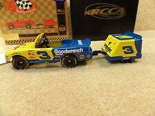 New 1999 Action Diecast NASCAR Earnhardt Sr Wrangler Pedal Car Trailer Bank #3