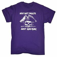 Instant Pirate Just Add Rum T Shirt slogan tee gift funny present captain skull
