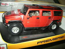 1:18 Maisto HUMMER h2 SUV 2003 ROSSO/RED OVP