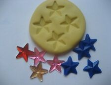 Tiny star 13mm multi compartment flexible silicone mold for chocolate fondant