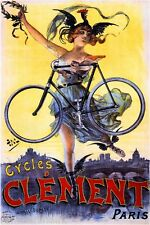Cycles Clement Vintage French Nouveau Poster Picture Print Art Advertisement