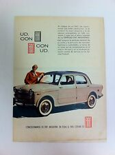1961 FIAT 1100 Advertisement From Argentina - #(F-50)