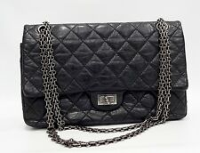 Chanel 226 Reissue Black Medium Calfskin Distressed Double Flap HandBag ~ $6,000