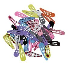 "72pcs 2"" Lot Boutique Girl Baby Kids Hair Clips Snap Hairpin Grip 12 Candy Color"
