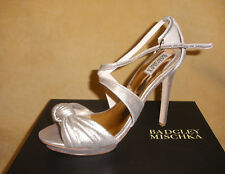 New in Box - Never Worn - Badgley Mischka Wallis Heels in Rose Gold Size 9 1/2