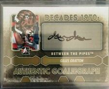 2012-13 ITG Decades 1970 Auto GoalieGraph Gilles Gratton 12/13 Between The Pipes