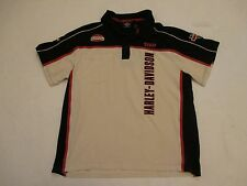 Mens Size XL Harley Davidson Motorcyles Staff Polo Shirt Fully Embroidered HD