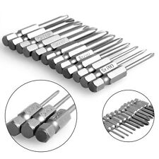 New 12Pcs 50mm 1/4 Inch Hex Shank Magnetic Phillips Cross Screwdriver Bits