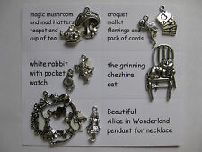 Alice in Wonderland wonderful charms for scrapbooking, card and jewellery making