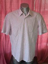 HUGO BOSS - jolie chemise à carreaux manches courtes taille 43-17 EXCELLENT ÉTAT