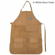 New Silverline 633505 Welders Welding Apron Chrome Leather Full Length Safety