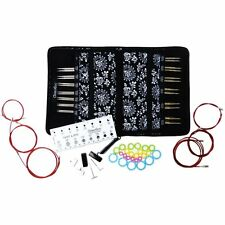 NEW ChiaoGoo Twist Red Lace Interchangeable Knitting Needle Set Complete