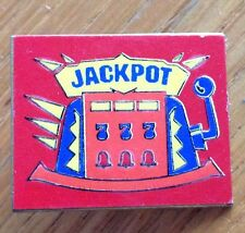 Jackpot Pokie Slot Machine Pin Badge Rare Collectable (D3)