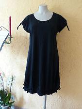 BORIS INDUSTRIES Kleid Knotensaum 48 (5) NEU schwarz Stretch Baumwolle LAGENLOOK
