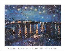 """Starlight Over Rhone"" by Vincent van Gogh - Fine Art Print  22 x 28"