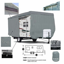 Deluxe Serro Scotty HiLander M-15 Travel Trailer Camper Cover w/ Zipper Access