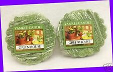 2 Yankee Candle GREENHOUSE Green Wax Tarts Mini Small Candle apprx. 8 hrs ea