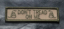 DON'T TREAT ON ME GADSDEN 2RD AMENTMENT NAME TAG 3.75 INCH MORALE HOOK PATCH