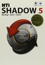 NTI SHADOW 5 FOR MAC, BACK UP, SYNC AND CLONE DATA AND PARTITIONS SOFTWARE - NEW