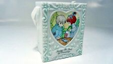 """Precious Moments Box ceramic Figure - Sowing The Seeds of Friendship 3"""" tall"""