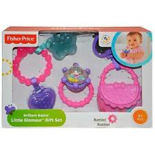 Fisher-Price Brilliant Basics Little Glamour RATTLE  Gift Set of 3 Baby teethabe