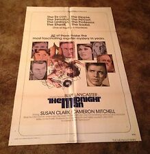 "THE MIDNIGHT MAN Burt Lancaster 1974  27"" x 41""  ORIGINAL ONE SHEET MOVIE POSTER"
