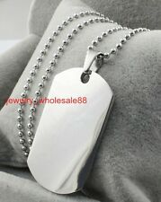 on sale Stainless Steel Army Dog tag Pendant Ball chain High Polished Jewelry