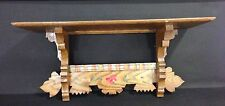 Vintage Carved Painted Hanging Wood Wall Shelf