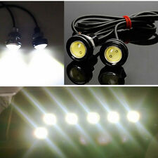 12V 10W White Eagle Eye Car Fog Driving Daytime Running Light DRL Auto Head Lamp