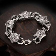 Men's NF Stainless Steel Jewelry Animal Wolf Chain Bracelet 8 inches Gift