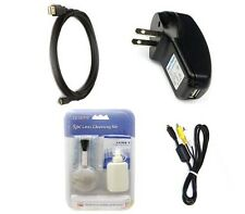 USB + AV Video + Charger for Olympus D-780 VH-210 VH-410 VH-510 VH-520 VG-190