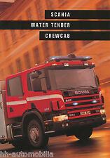 Scania Water Tender Crewcab Fire Truck Prospekt GB brochure Feuerwehr LKW Sweden