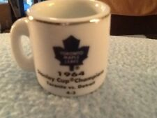 NHL STANLEY CUP CRAZY MINI MUG TORONTO MAPLE LEAFS 1964 CHAMPS W/OPPONENT &SCORE
