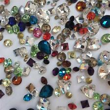 Super Mixed Rhinestones Point back Crystal Glass Chatons 50g 300ps UK
