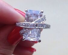 Sterling Silver and Cubic Zirconia Ring Size 7, approx. 8.59 grams