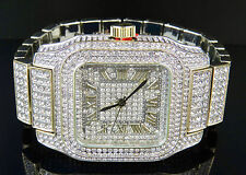 Men's Stainless Steel Techno Pave Model # 7967 AAA Simulated Diamond Watch 45MM