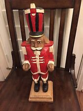 1 Pottery Barn Christmas Holiday Wood Painted Nutcracker New
