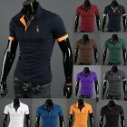 New Fashion Men's Slim Fit Short Sleeve Polo Shirt Summer Casual T-Shirt Tops