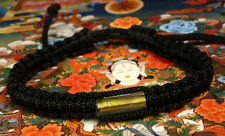 SAI SIN BUDDHA BRACELET BLACK BLESSED BY BUDDHIST MONK : LUCK & PROTECTION LIFE