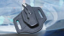 Leather pancake sheath pouch holster for Spyderco Manix 2