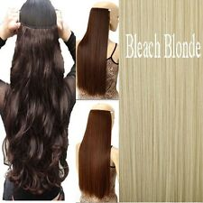 Real Thick New Curly Wavy Straight CLIP IN On HAIR EXTENSIONS 3/4 Full head US
